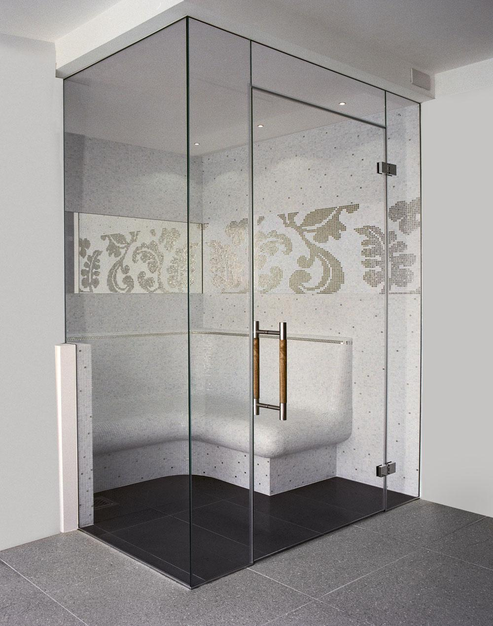Frameless Glass Steam Rooms Sauna Screens
